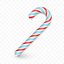 Christmas Candy Cane Isolated ...