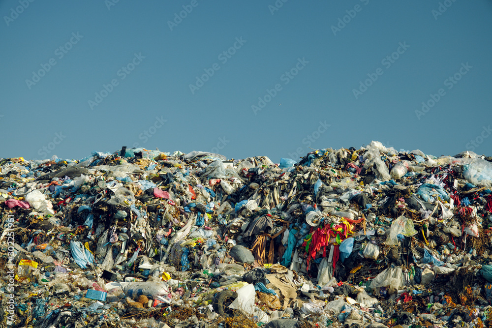 Fotografie, Obraz huge and awful dump garbage mountain pollution and ecological disaster actual no