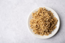 Healthy Brown Rice And Quinoa Dinner Fully Cooked