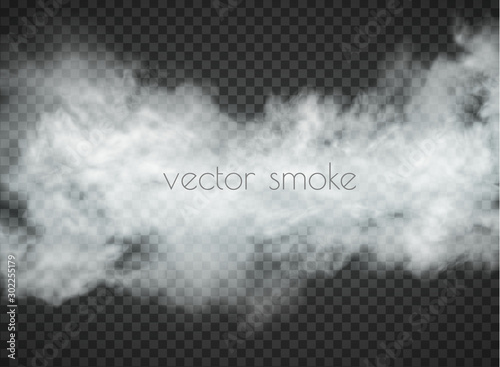 Fotografía  fog and smoke isolated on transparent background