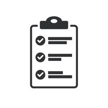 Flat Design Of Checklist Icon ...