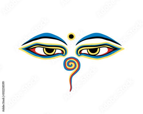 Vector buddha eyes on white background Slika na platnu