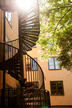 Black Spiral Staircase Outside...
