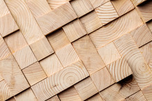 Background Made Of Wooden Cubes