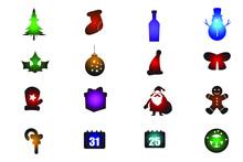 Set Of Christmas Colored Gradi...