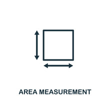 Area Measurement Icon Outline Style. Thin Line Creative Area Measurement Icon For Logo, Graphic Design And More