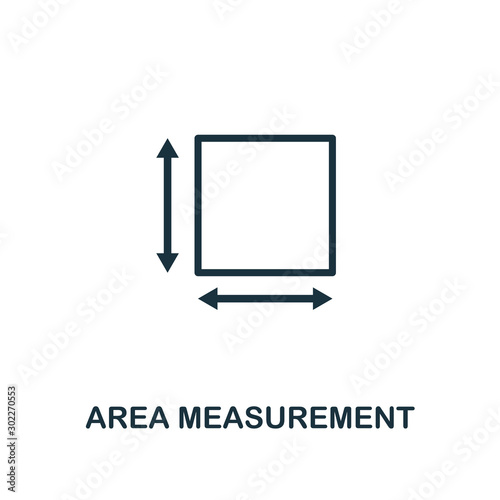 Photo Area Measurement icon outline style