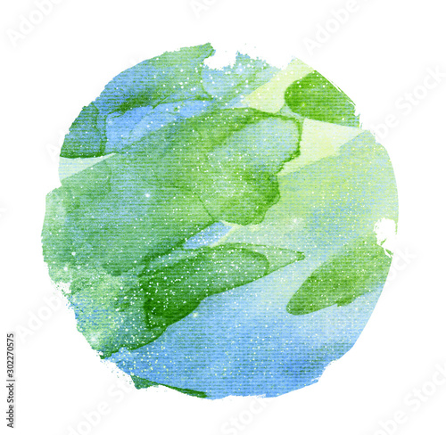 Watercolor circle on white as background #302270575