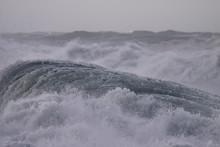 Detailed Stormy Breaking Wave