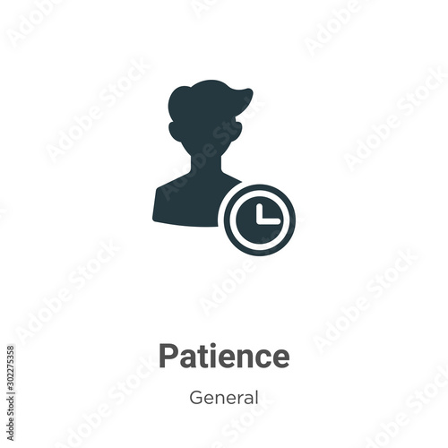 Canvastavla Patience vector icon on white background