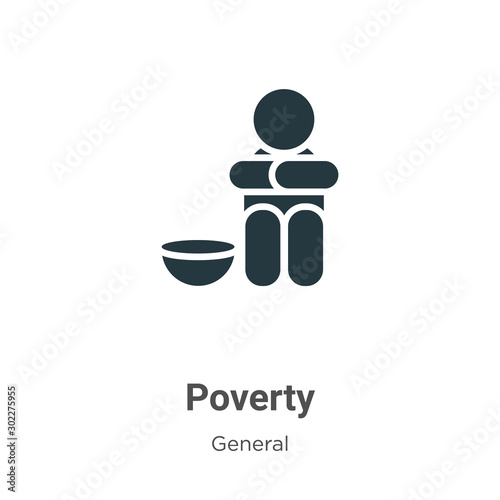 Poverty vector icon on white background Fototapete