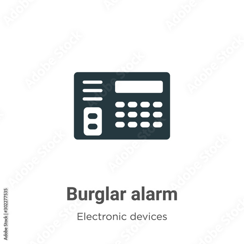 Cuadros en Lienzo  Burglar alarm vector icon on white background