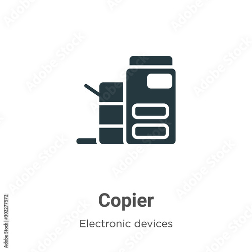 Copier vector icon on white background Fototapet