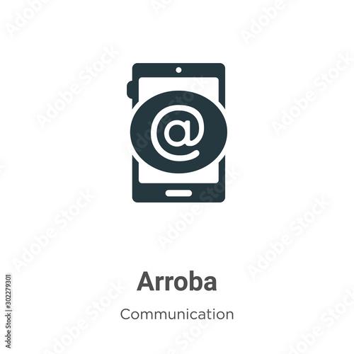 Photo Arroba vector icon on white background