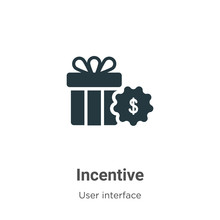Incentive Vector Icon On White...