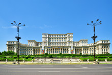 The Palace Of The Parliament, In Central Bucharest, Is The Second Largest Administrative Building In The World. The Palace Was Ordered By Nicolae Ceausescu (1918?1989), The Dictator Of Communist Romania. Bucharest, Romania