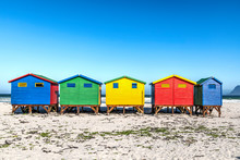 Colorful Beach Houses On The B...
