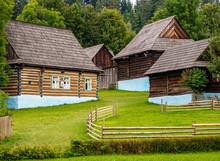 Huts In Open Air Museum At Stara Lubovna, Presov Region, Slovakia