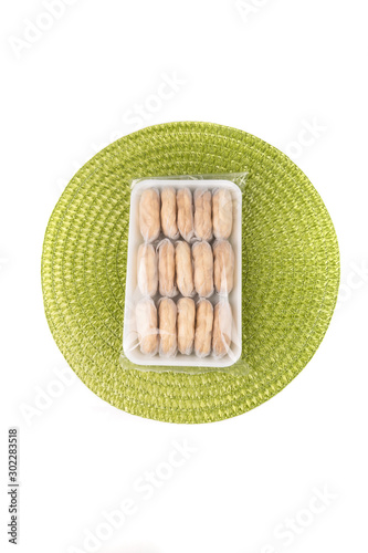 Photo Araro arrowroot fragile wrapped cookies traditional snack treat philippines