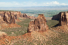 Independence Monument And Canyon In Colorado National Monument