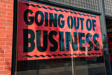 Going Out Of Business Sign In ...