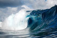 Sea Waves Against Cloudy Sky