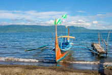 Bangka Boat On  Taal Lake, Taa...