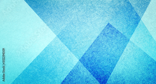 Obraz abstract blue background triangle design with layers of geometric shapes in modern textured pattern, business or website background layouts - fototapety do salonu