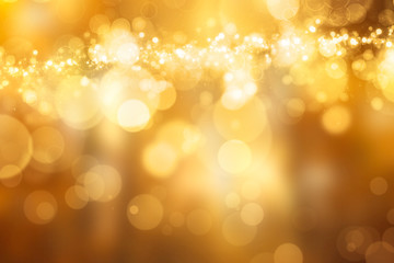 Beautiful festive Bokeh in golden Colours