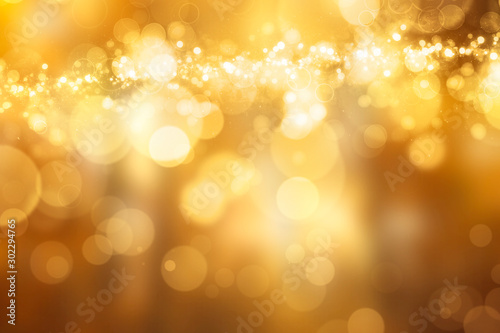 Obraz Beautiful festive Bokeh in golden Colours - fototapety do salonu