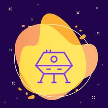 Lunar Module Icon - Vector. Sp...