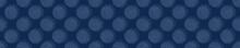 Embroidery Border Boro Fabric Circle. Sashiko Kantha Vector Pattern. Needlework Seamless Banner Edging. Indigo Blue Running Hand Stitch Texture Trim. Wabi Sabi Textile Japan Decor. Washi Tape EPS 10
