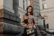 Outdoor Autumn Fashion Portrai...