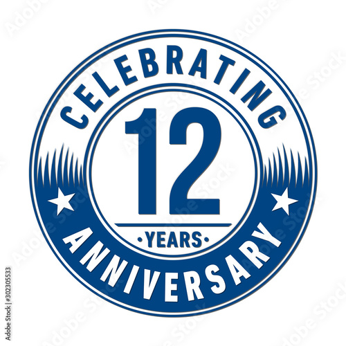 Tela  12 years anniversary celebration logo template