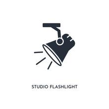 Studio Flashlight Icon. Simple...