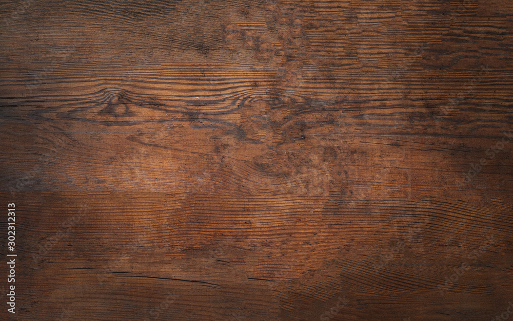 Fototapety, obrazy: Old brown bark wood texture. Natural wooden background.or cutting board.
