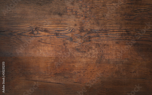 Obraz Old brown bark wood texture. Natural wooden background.or cutting board. - fototapety do salonu