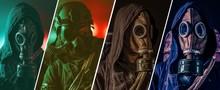Post Apocalypse Gas Mask  Collage Concept