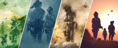 special forces soldier police, military team members. Wallpaper Mural