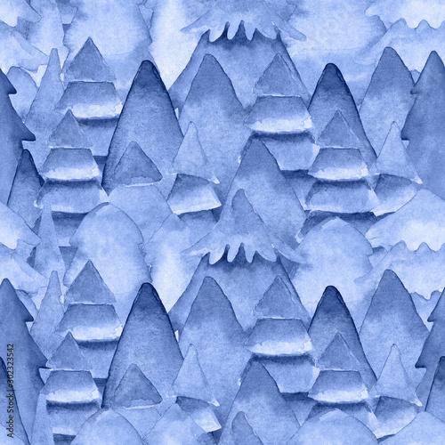 akwarela-recznie-rysowane-wzor-z-niebieskimi-sosnami-jodly-teksturowane-eleganckie-grafiki-do-dekoracji-papier-pakowy-tekstylny-nowy-rok