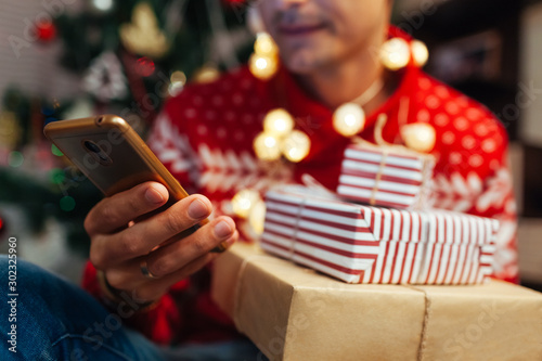 Foto  Christmas shopping online
