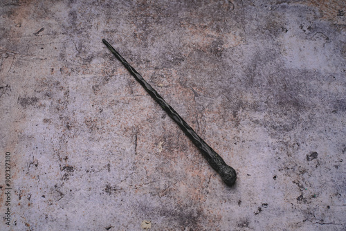 magic wand on gray background. Copy space for text Fototapet