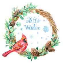 Hello Winter Card. Christmas W...