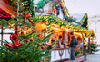 Christmas Market at Opernpalais at Mitte in Winter Berlin, Germany. Advent Fair Decoration and Stalls with Crafts Items on the Bazaar. Glass