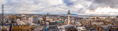 Fotobehang Noord Europa Aerial view of Lime station in Liverpool, England