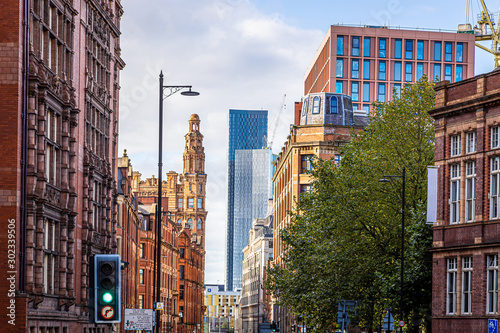 View of Manchester in the autumn, United Kingdom Wallpaper Mural