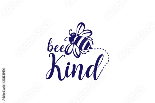 Bee Quotes be kind Tableau sur Toile