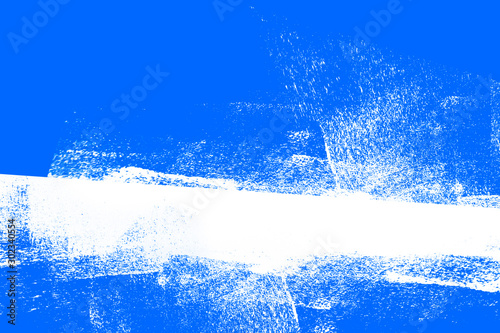 Fototapety, obrazy: blue and white hand paint background texture with grunge brush strokes