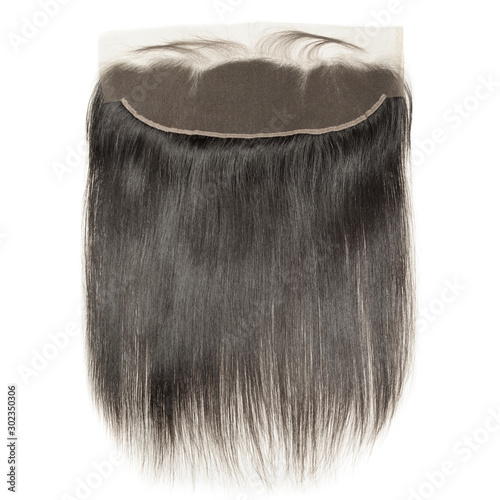 straight black human hair weaves extensions lace frontal Wallpaper Mural