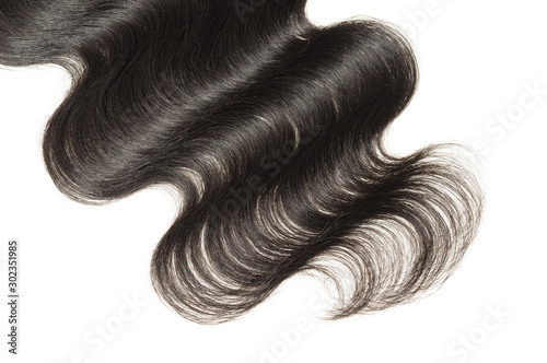 Fotomural  body wave black human hair weaves extensions lace closure